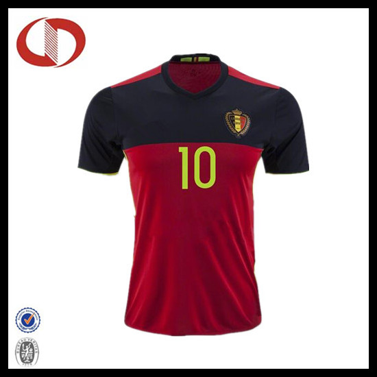 2016 new design football shirt soccer jersey with number printing