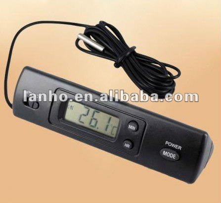 New Digital LCD Display Auto Car In-Outdoor Thermometer W/Sensor For Automotive A/C
