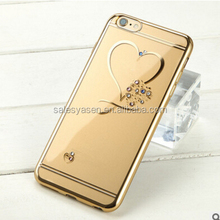Clear Bling Love Heart Crystal Rhinestone Diamond crystal bling phone case for iPhone 6 New Arrivals