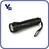 High Quality Promotional Aluminum 14 LED Flashlights with 3AAA batteries
