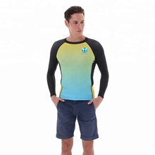 summer beach swimwear custom printed rash guard, high quality UPF lycra surf custom rush guard