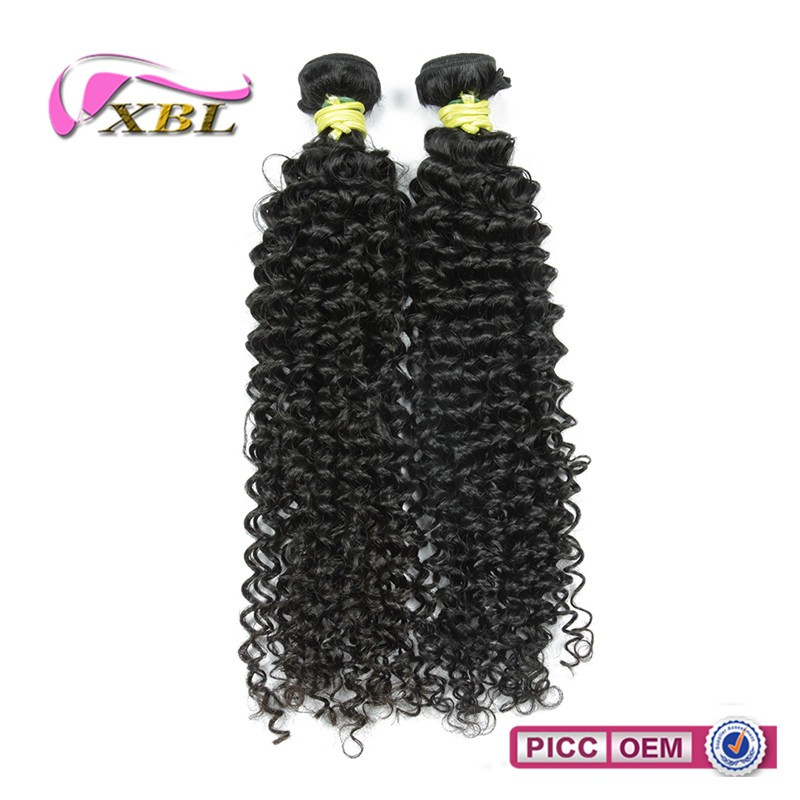 XBL wholesale 100% unprocessed virgin hair high quality Cambodian curly human hair