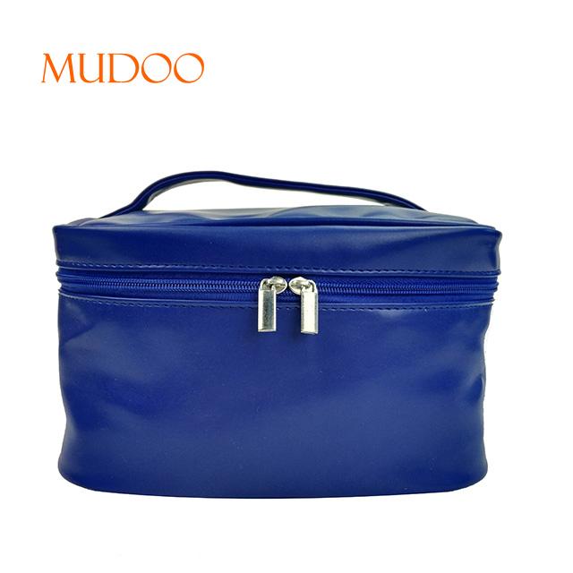 Generous Navy Blue Waterproof Storage Package Zipper Cosmetic Bag Traveling Makeup Bag Handbag