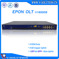 High Performance 8PON GEPON OLT Support L3 Route Function with Cisco Style CLI and Free Friendly NMS Management System