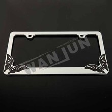 best quality metal license plate frames/personalized license plate frame for car