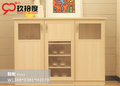 modern wooden shoe cabinet with mirror and aluminum frame