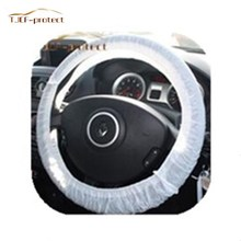 Clear White Plastic Disposable Steering Wheel Cover for Auto