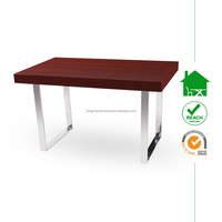 DT-2017 modern wooden dining table with veneer top