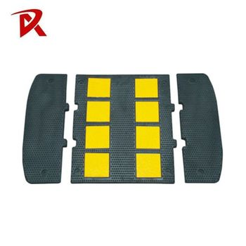 Strong resistant rubber speed bump /rubber traffic blocker/speed hump