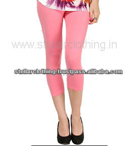 LADIES 95%COTTON 5%LYCRA LEGGINGS