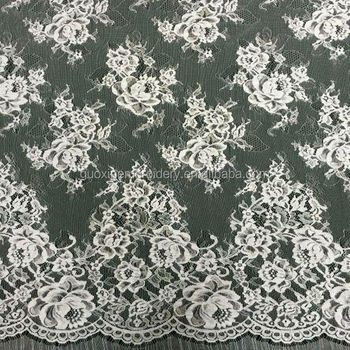 Wholesales Floral lace fabric nylon rayon lace fabric