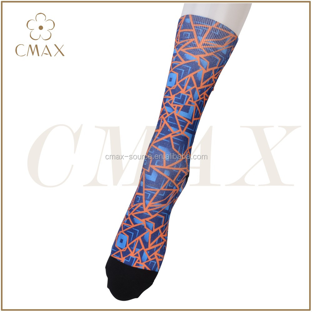Excellent sublimated crew socks all over printing men adult,men colourful happy socks,men cotton fashion dress socks