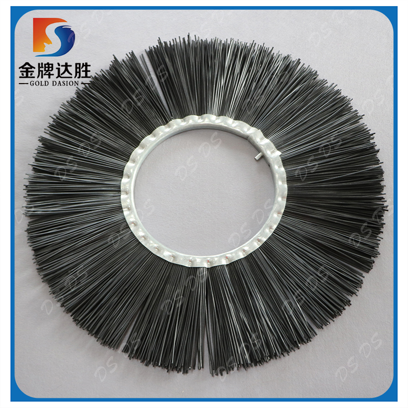 Black PP bristle Road sweeper cleaning brush