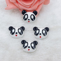 High Quality 27*22mm Panda Flat Back Jewelry Kawaii Resin Flower Cabochons for Phone Case