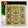 Cross golden wedding invitation laser cut elegant wedding invitations 2016