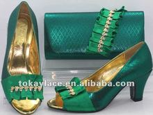 2012 high quality lady shoes and matching bag set