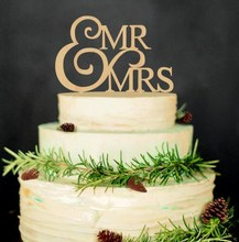 """Mr and Mrs"" Rustic Wedding Cake Topper Laser Cut Wood letters Wedding Cake Decorations Favors Supplies Engagement Gifts"