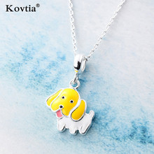 2018 Newest Lovely Dog Pendant Plated Silver Jewelry Necklace Girl Cute Bijou Pendant Necklaces Wholesale