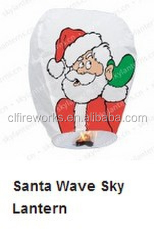 Quality Assured fir retardant Santa Christmas Paper Sky lantern