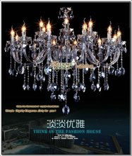 Iron Plated Chrome And K9 Water Blue Crystal Large Size Chandelier Centerpieces
