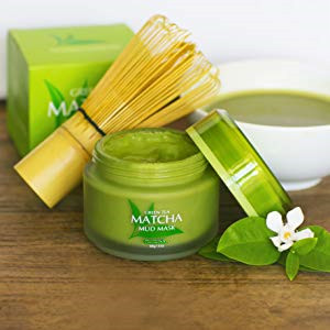 Private Label Skin Lightening and  Anti Aging Green Tea Matcha Facial Mud Mask
