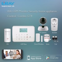Anti-Theft Voice quad band 850/900/1800/1900Mhz SOS, fire, gas, door, hall, window, balcony, and boundary alarm system