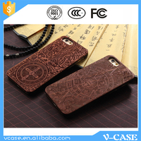 Laser carving custom pattern wood phone case for iPhone, for iphone 6 case