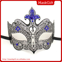 Popular blue stone decorative metal halloween mask from China supplier