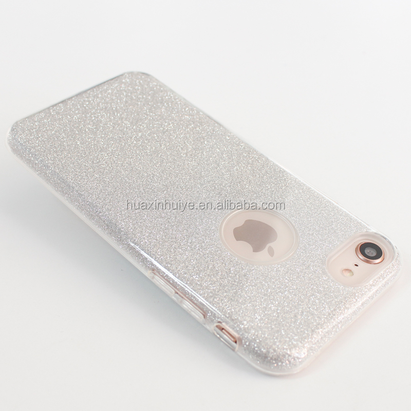 Protective PC+TPU Glitter Cell Phone Case Phone Cover For Iphone 8