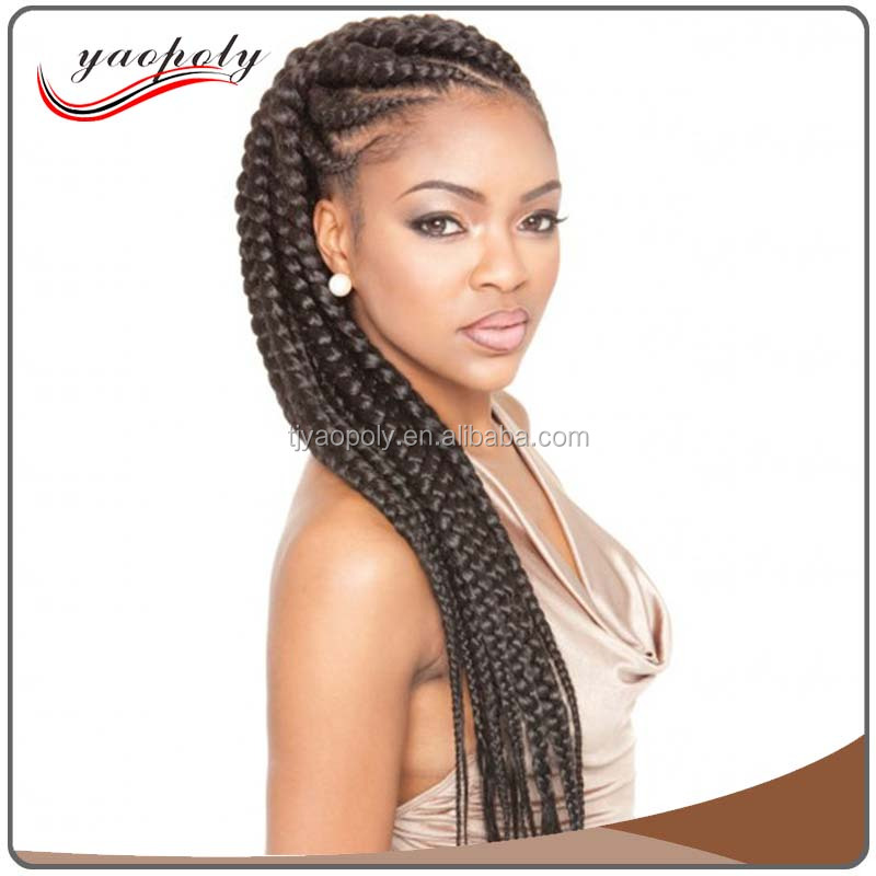 Colorful Afro braids Black Orange 24inch Synthetic jumbo braiding Bulk Hair Extension