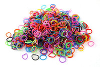 High Quality Colorful Pure Rubber Loom Bands With S-clips/C-clips for Making DIY Exorted to Japan