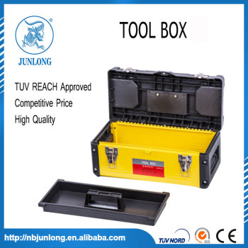 Heavy Duty Black Plastic 14 Inch Tools Box with Lift - out
