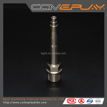 Titanium bicycle pedal shaft