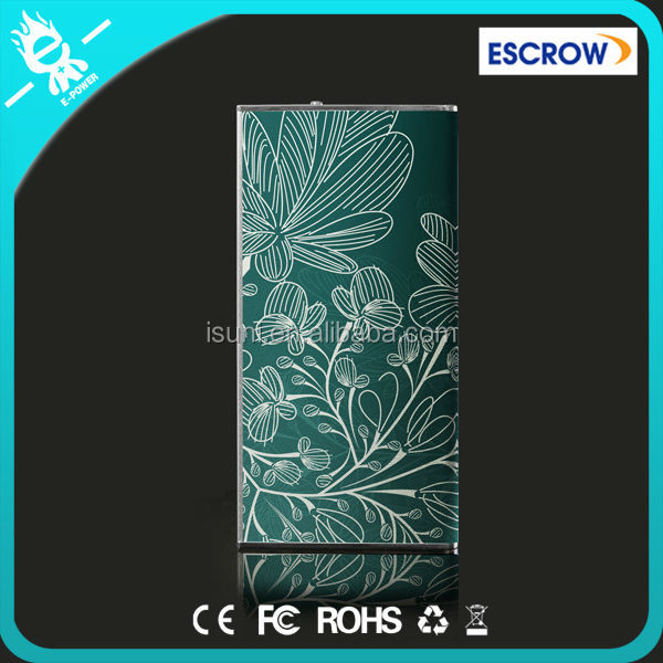 Green Leaves Pattern! New mobile powerbank,travel charger,portable battery charger for mobile phones