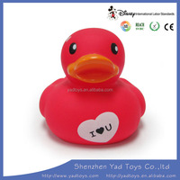 Promotional kids squeezed Rubber bath duck toys