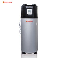 China alibaba white air source all in one heat pump heating geyser/water heater,2kw,300L,R134a with CE,EN16147 European standard