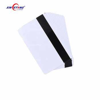High quality 85.5*54mm credit PVC plastic card with blank magnetic stripe