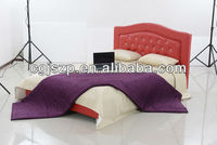 2013-New design crown style red pu bed with crystal for bed