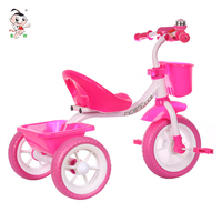 Plastic car toy kids push tricycle wholesale kid bike for child 3-5 years old