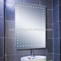 Hair Salon Equipment Wall Mounted Lighted Mirror With Fog Lights