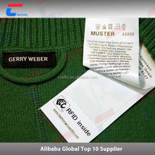Impinj 860-960mhz uhf woven cloth tag /clothing rfid labels