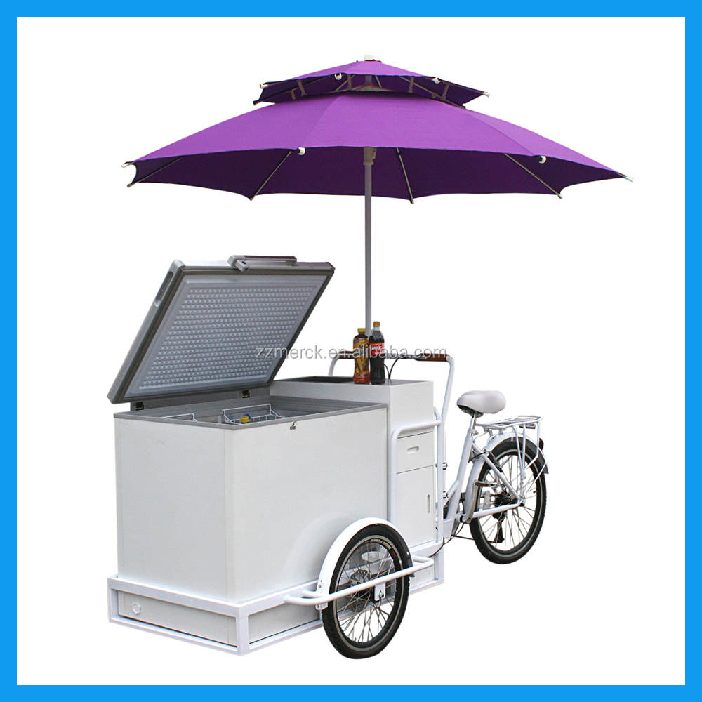 Small Business Hire Freezer Ice Cream Cart Bicycle For Sale