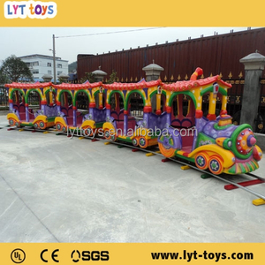 Amusement park used 8 seats kids electric track train rides for sale