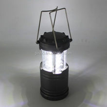 Plastic Hanging Telescopic Rechargeable Portalbe LED Solar Camping Lantern with Solar