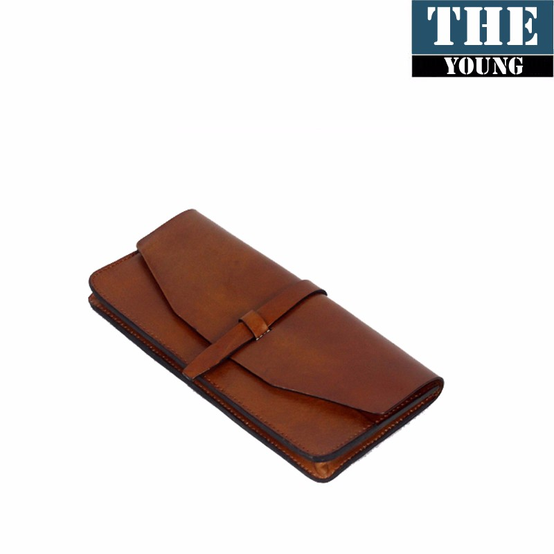 Fashion brown color hot selling classic lady wallet leather bags