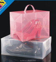 Clear plastic PVC box, clear PVC shoes box packaging, clear box for shoes