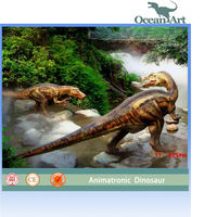 3D movie CE approved animatronic dinosaur