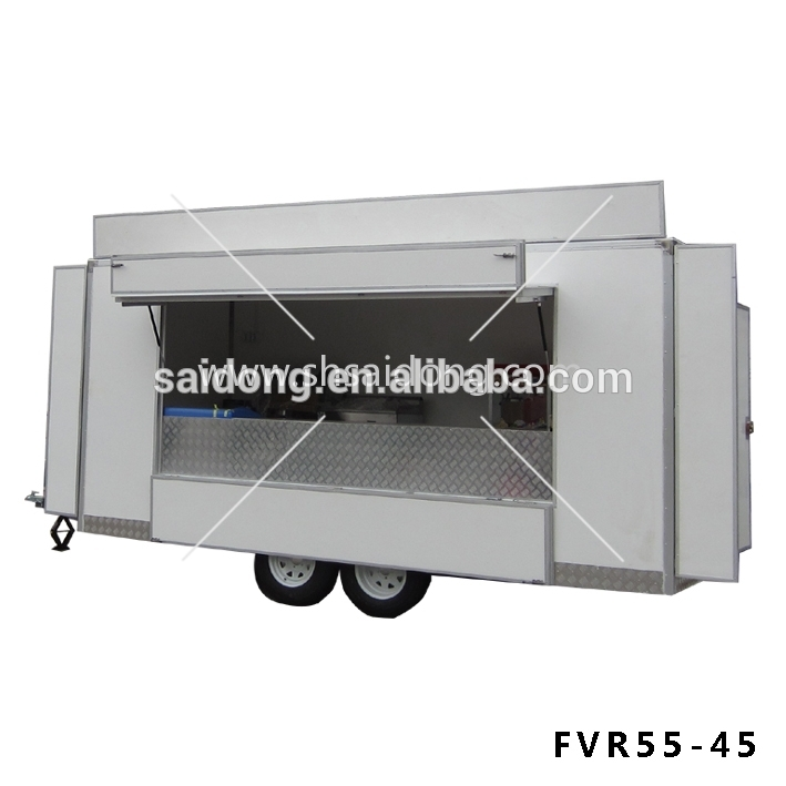 Newly food cart selling Commercial Outdoor Kiosk Food Cart With Wheels