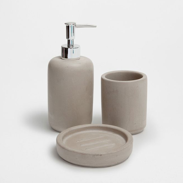 Fancy hotel bathroom accessories sets, Natual cement home bathroom accessory