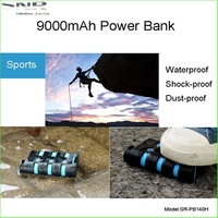 High quality factory price waterproof outdoor cell phone charger power bank 9000mAh for all smart phones
